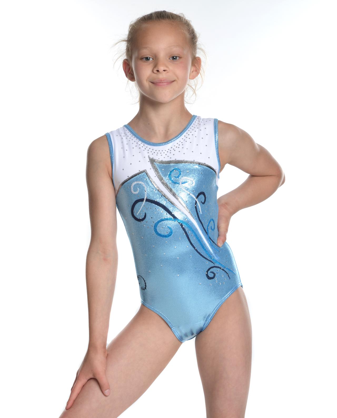 Home Gym Design Companies 2017 Aurora Baby Blue Little Stars Leotards
