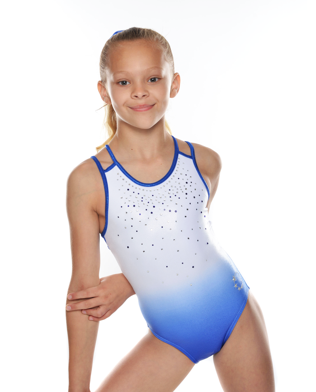 blue white ombre gymnastics leotard 73bfd6330fc4a