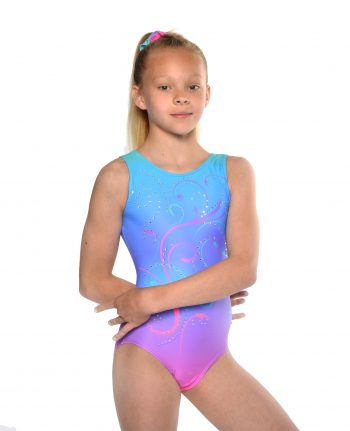 leotards gymnastics ombre blue pink