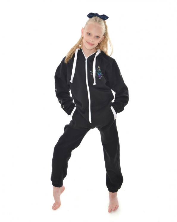 new gymnastics personalised black onesie