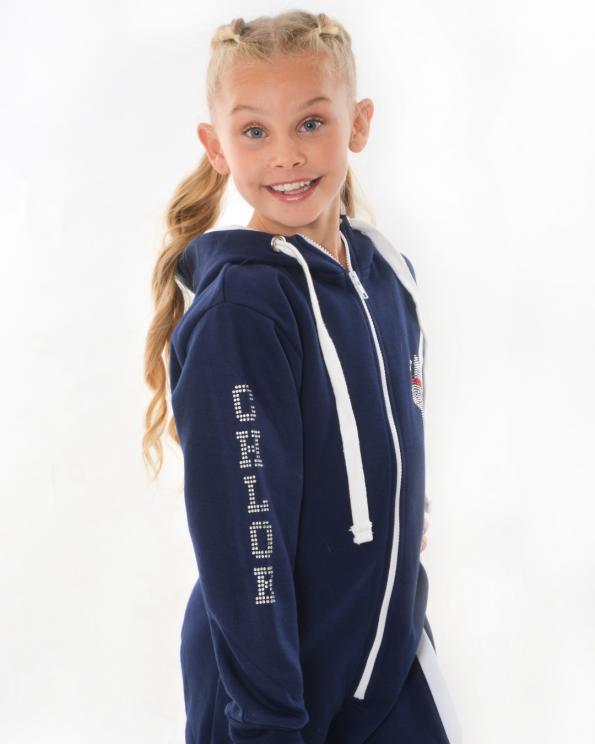 new gymnastics personalised navy onesie