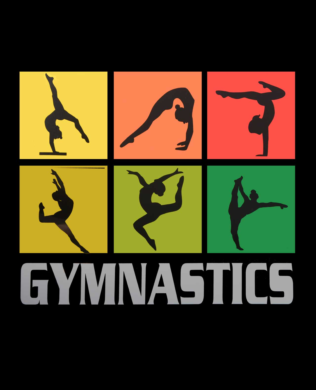 B36 Gymnast Silhouette