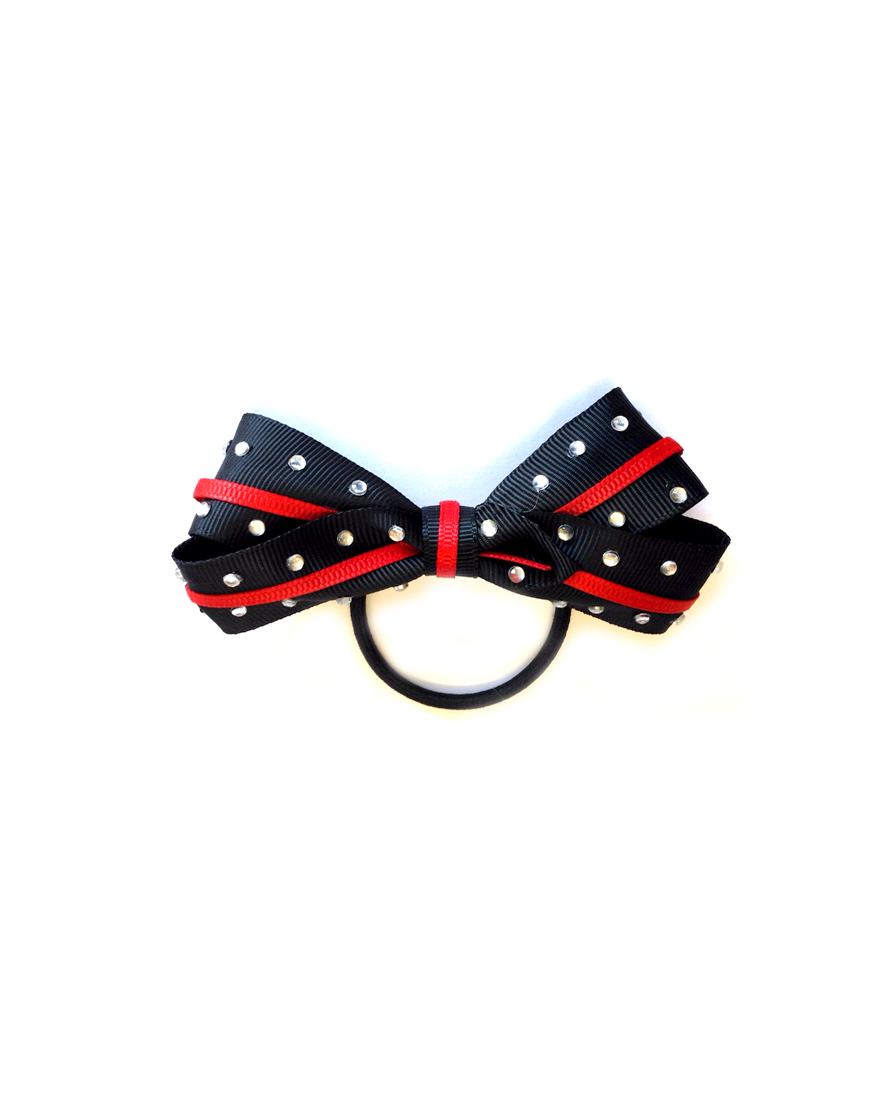 gymnastics hair bow navy and red