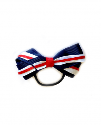 gymnastics- bow-red-white-navy