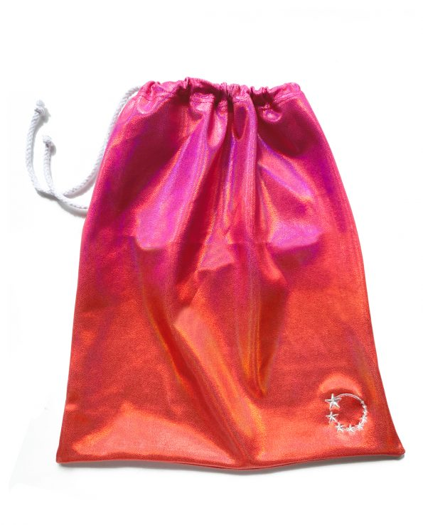 ombre red and pink gymnastics hand guard bag
