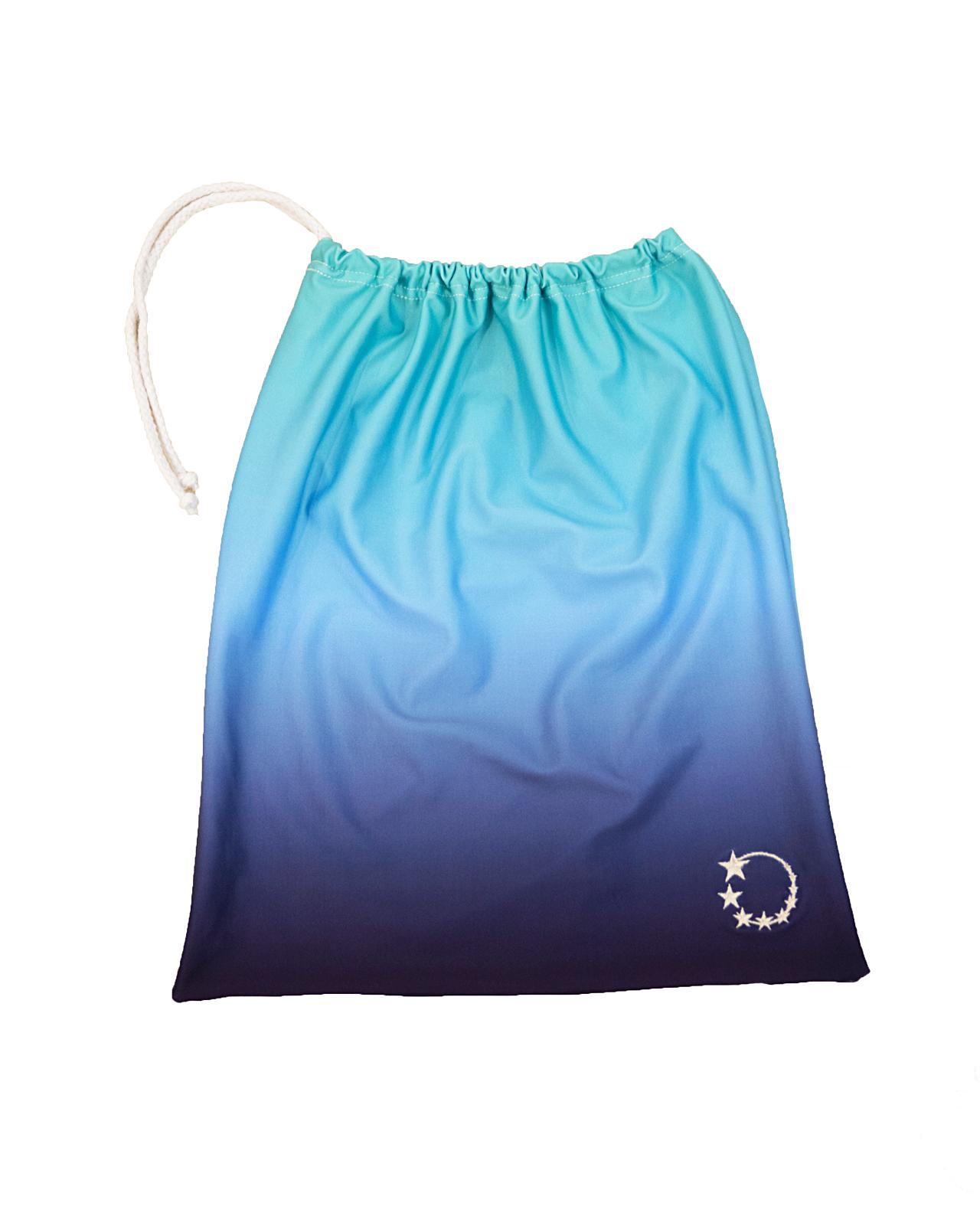 mint and blue gymnastics hand guard bag