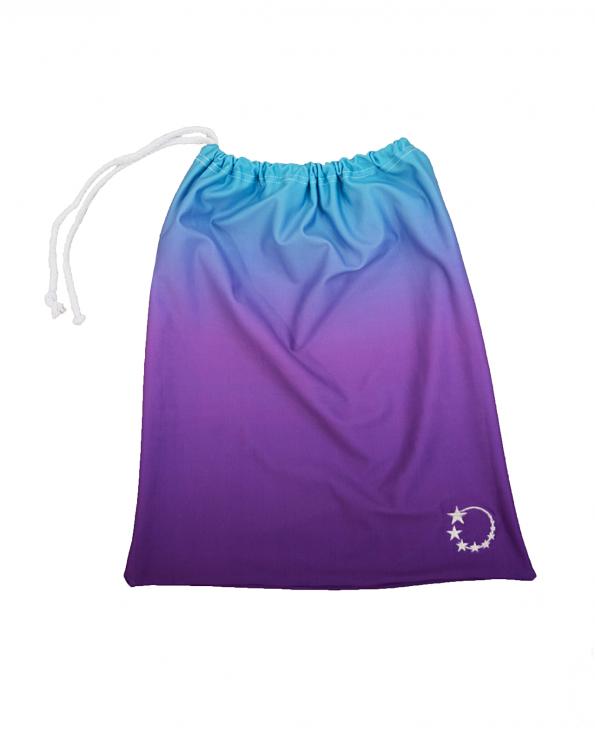 Ombre purple gymnastics hand guard bag