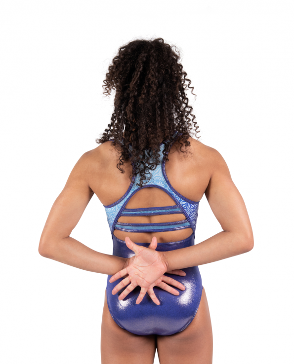 mandala inspired open back leotard