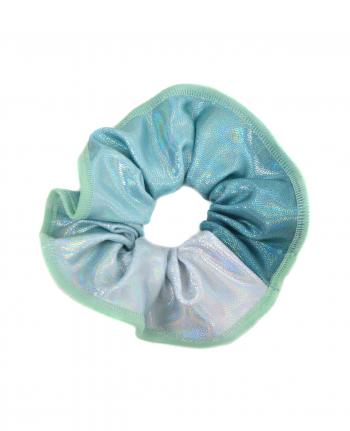 gymnastics scrunchie pastel mint silver
