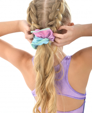 gymnastics scrunchie pastel ombre pink mint purple