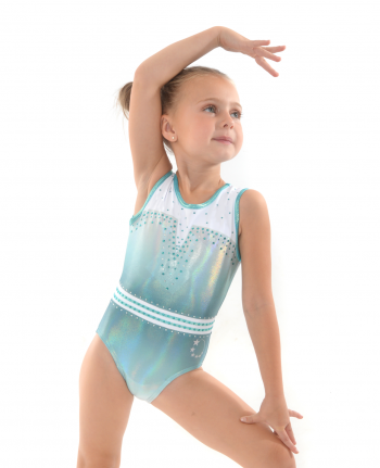 gymnastics leotard cute holographic mint ombre tank style
