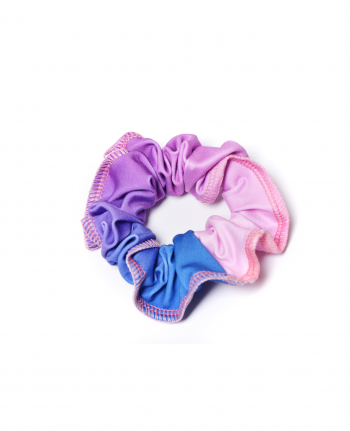 ombre pink purple and blue gymnastics scrunchie
