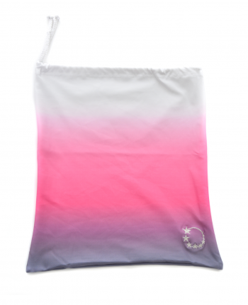 ombre pink and silver gymnastics bag
