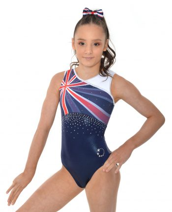 202 New design GB Union Jack leotard
