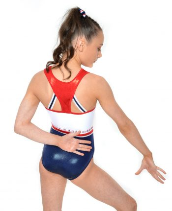 GB honour Red white and blue limited edition with racer back leotard