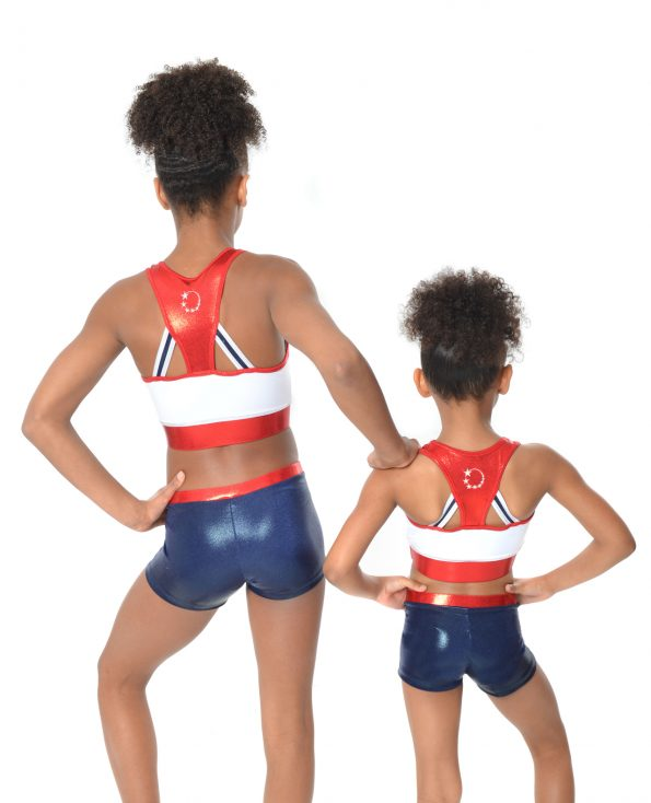 GB honour Red white and blue limited edition crop top set