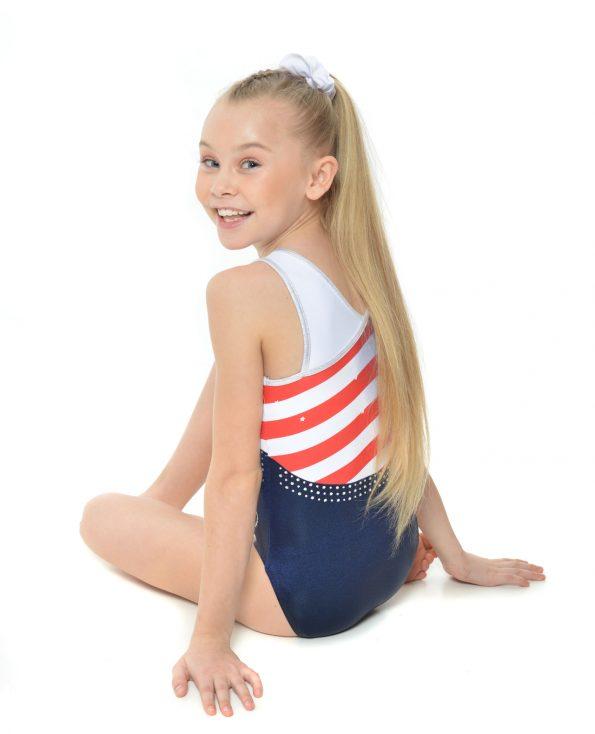 USA stars and stripes gymnastics leotard