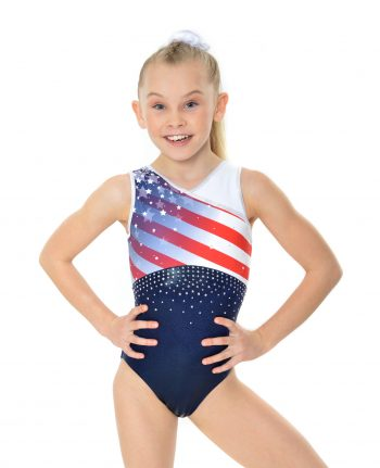 USA stars and stripes gymnastics leotard