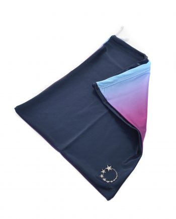 navy and purple ombre handguard bag