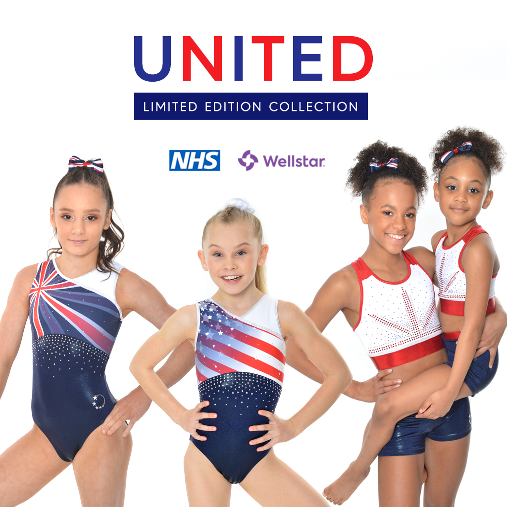 NEW GB + USA gymnastics leotards and cropped sets