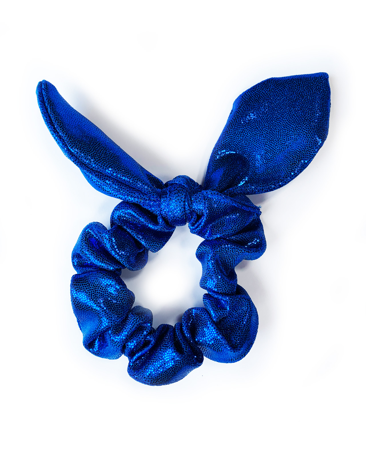 scrunchie knotted bunny bow blue