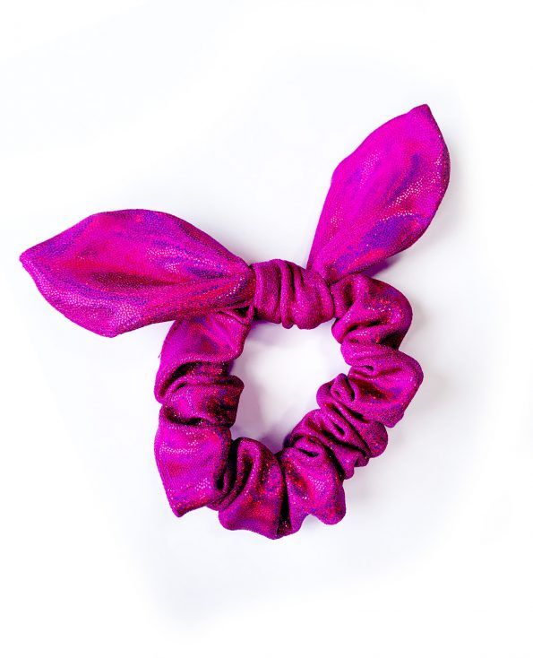 scrunchie knotted gym bunny bow magenta