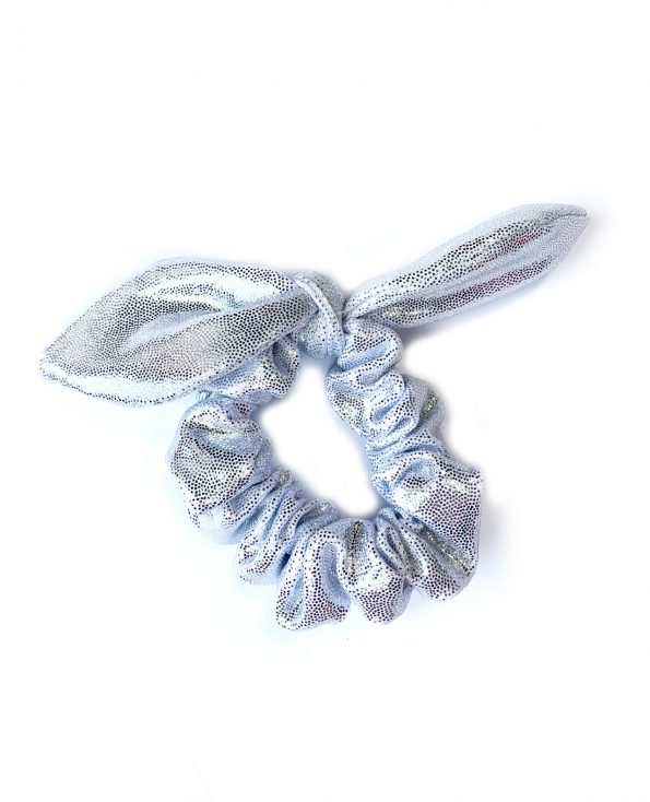 scrunchie knotted bunny bow mint