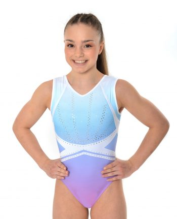 pastel pink and blue ombre summer leotard