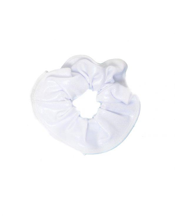 gymnastics scrunchie white