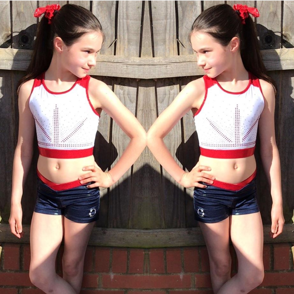 Union Jack GB White Cheer Crop Top design