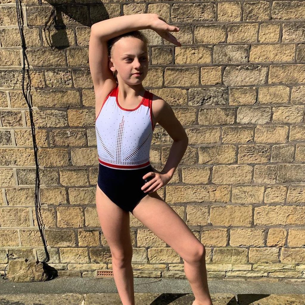Union Jack GB White Leotard design