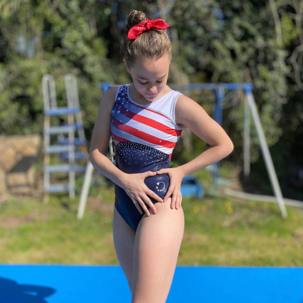 Stars and Stripes USA White Leotard design