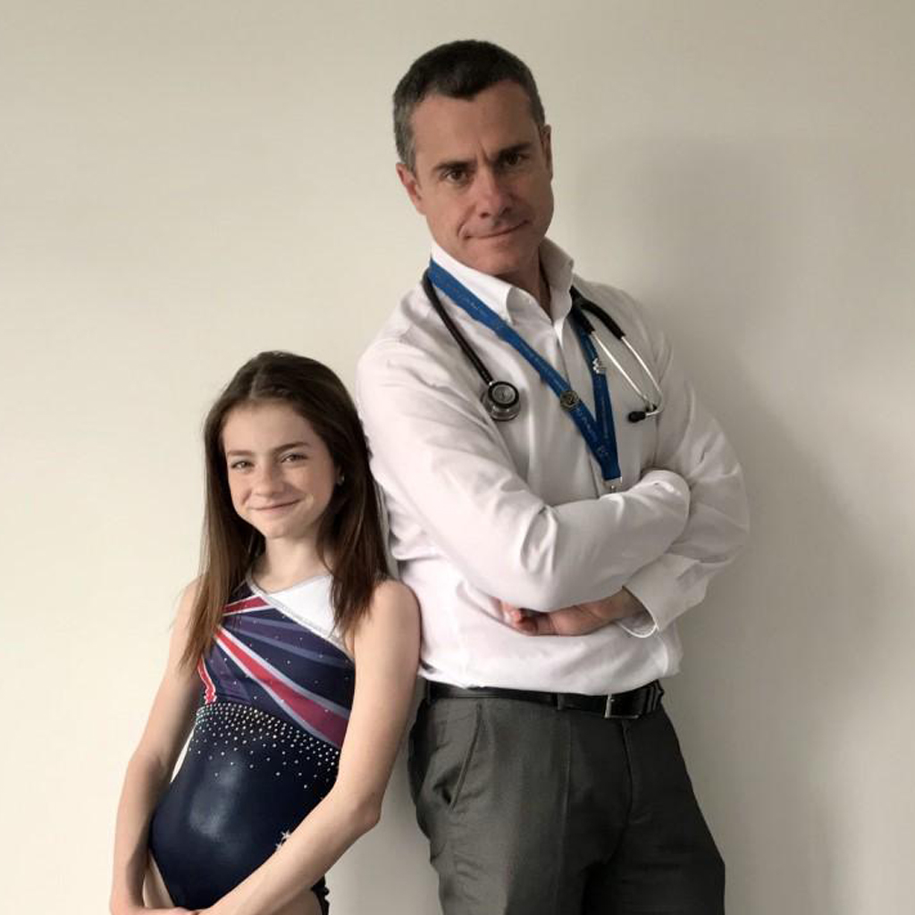 charity leotard nhs doctor and daughter
