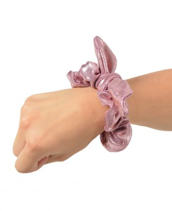 gymnastics hair scrunchie bow rose gold