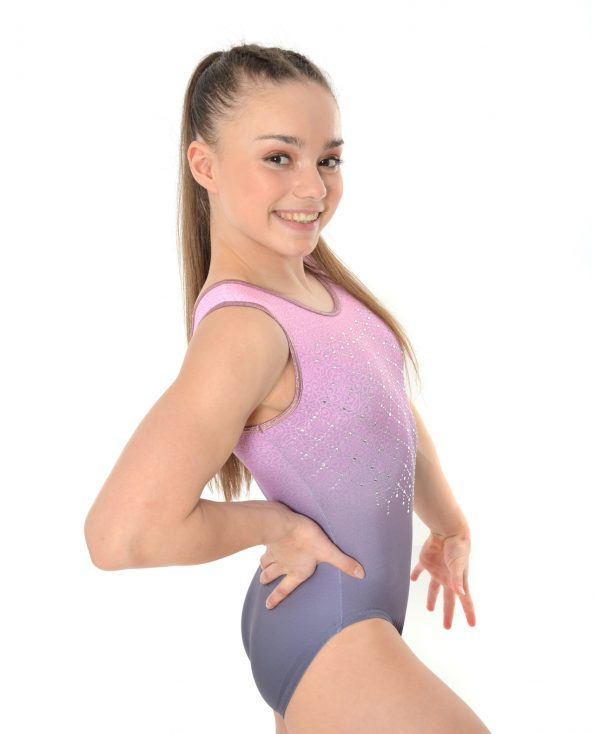 Grey + Pink Ombre Leotard