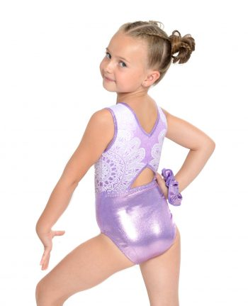 Purple and white Mandala leotard