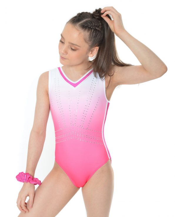 Pink and White Ombre Leotard