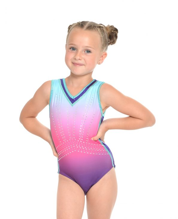NewCute Purple Pink Ombre Leotard