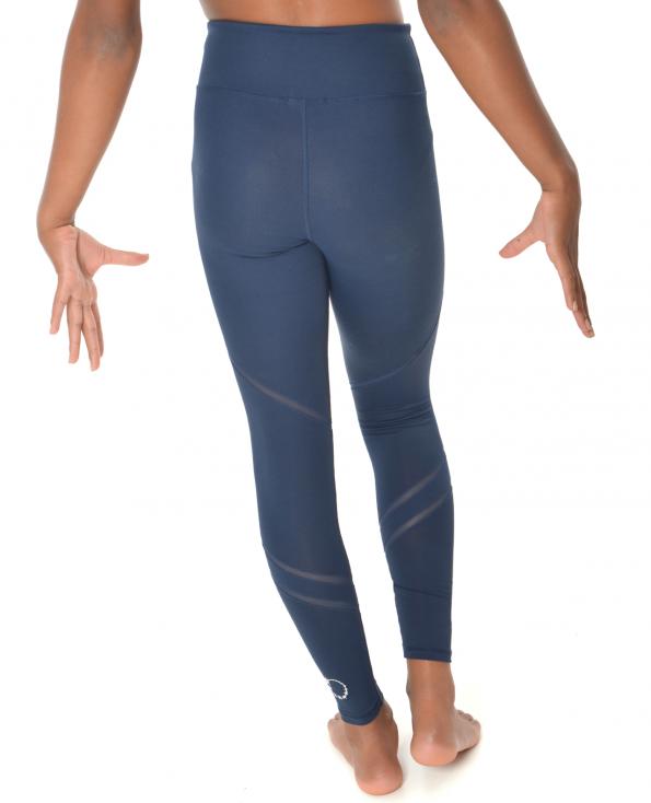 gymnastics navy mesh leggings