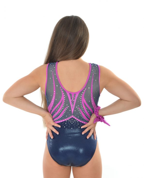 purple and navy leotard