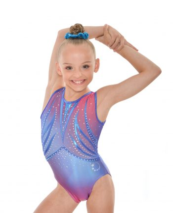 ombre blue pink leotard