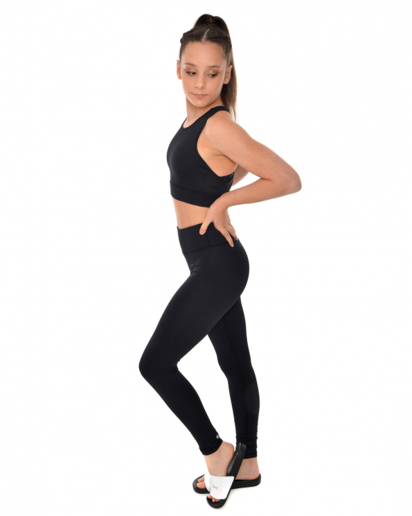 black gymnastics leggings