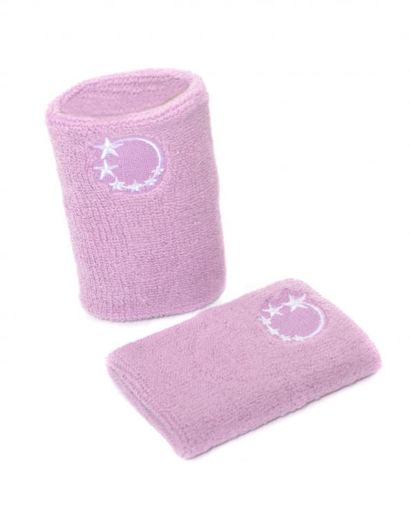 Lilac gymnastics sweatband wrist protection