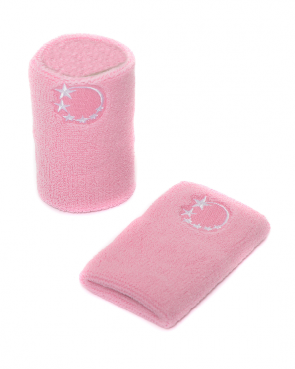 pink gymnastics sweatband wrist protection