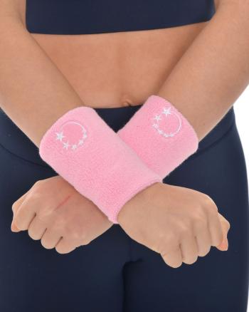 pink gymnastics sweatband wrist protection