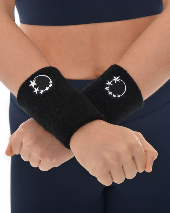 black gymnastics sweatband wrist protection