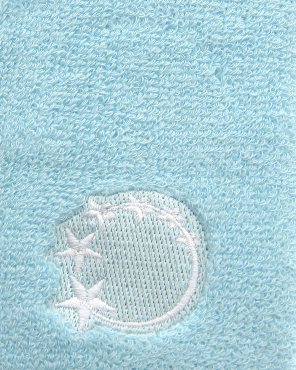 baby blue gymnastics sweatband wrist protection