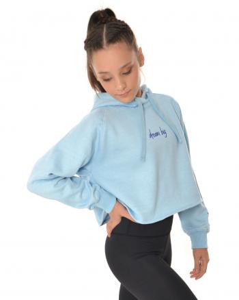 gymnastic hoodie blue