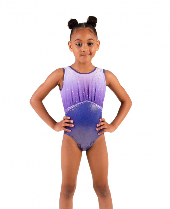 Ombre leotard with diamantes