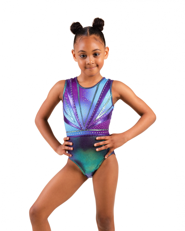 2021 Gymnastics leotard purple